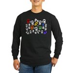 Rainbow Skulls Long Sleeve Dark T-Shirt