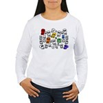 Rainbow Skulls Women's Long Sleeve T-Shirt