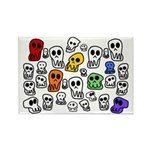 Rainbow Skulls Rectangle Magnet