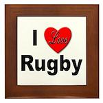 I Love Rugby Framed Tile