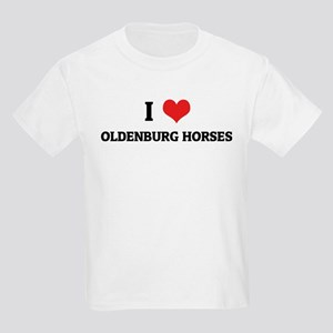 I Love Oldenburg Horses Kids T-Shirt