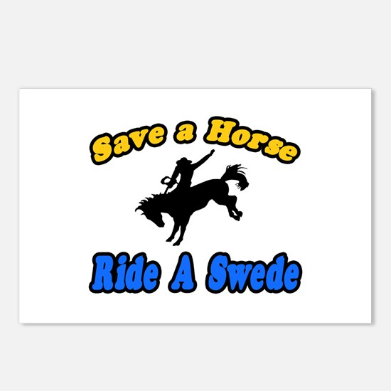 """Save Horse, Ride Swede"" Postcards (Package of 8)"