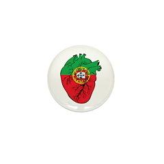 Heart Portugal Mini Button (100 pack)