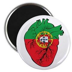 "Heart Portugal 2.25"" Magnet (10 pack)"