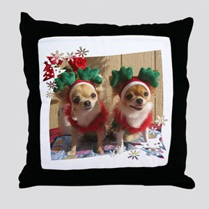 Chihuahua Xmas Throw Pillow