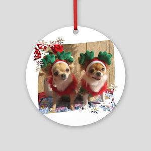 Chihuahua Xmas Ornament (Round)