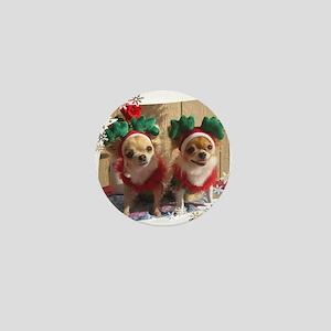 Chihuahua Xmas Mini Button