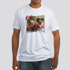 Chihuahua Xmas Fitted T-Shirt