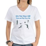 Give Your Dog a Gift Women's V-Neck T-Shirt