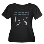 Give Your Dog a Gift Women's Plus Size Scoop Neck
