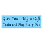 Give Your Dog A Gift Sticker (Bumper 50 pk)