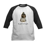 Good Shih Tzu Kids Baseball Jersey