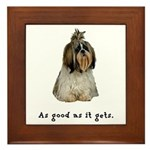 Good Shih Tzu Framed Tile