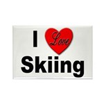 I Love Skiing Rectangle Magnet (10 pack)