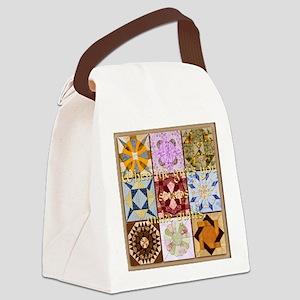 Harvest Moons Quilt Canvas Lunch Bag