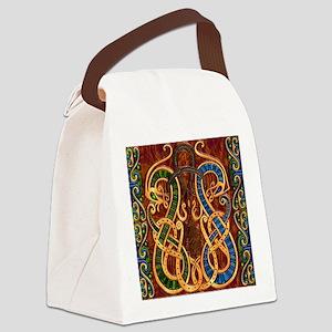 Harvest Moons Viking Dragons Canvas Lunch Bag