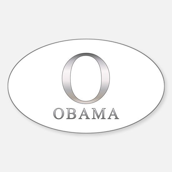 Silver Obama O Oval Decal