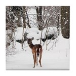 Deer in Winter Tile Coaster