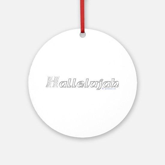 Hallelujah Ornament (Round)
