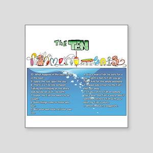 The Ten Fishmandments Sticker