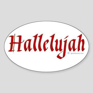 Hallelujah Oval Sticker