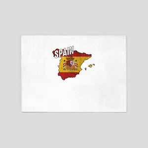Patriotic Spain Flag Spanish Patrio 5'x7'Area Rug