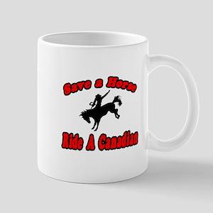 """""""Save Horse, Ride Canadian"""" Mug"""
