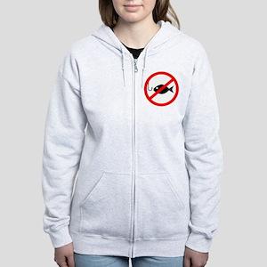 Poker: No Fishing Women's Zip Hoodie