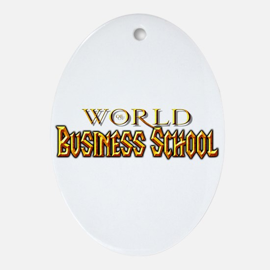 World of Business School Oval Ornament