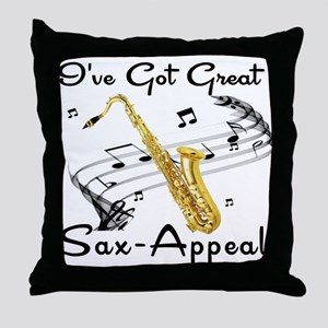 I've Got Great Sax-Appeal Throw Pillow