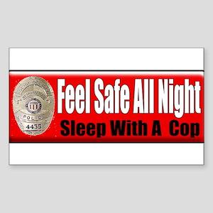 Feel Safe Rectangle Sticker