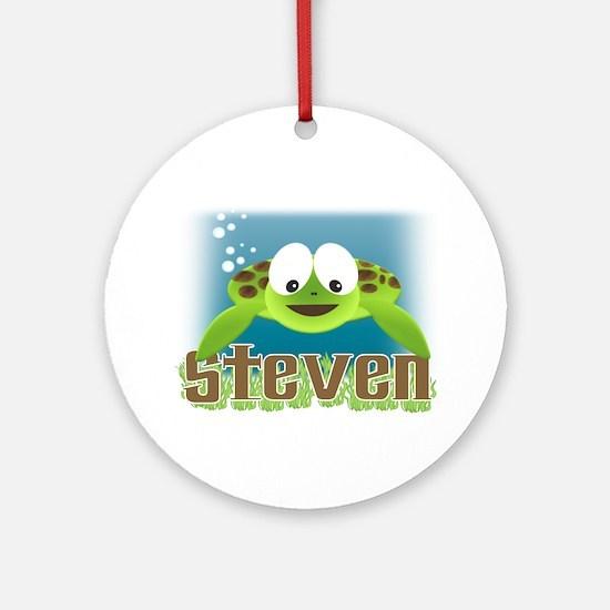 Adorable Steven Turtle Ornament (Round)