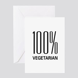 100% Vegetarian Greeting Card