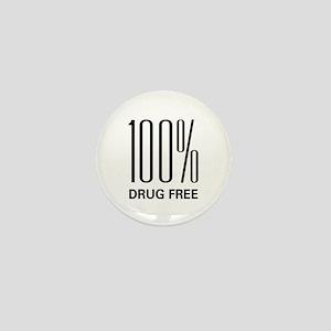 100% Drug Free Mini Button