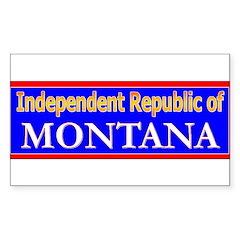 Montana-2 Rectangle Decal