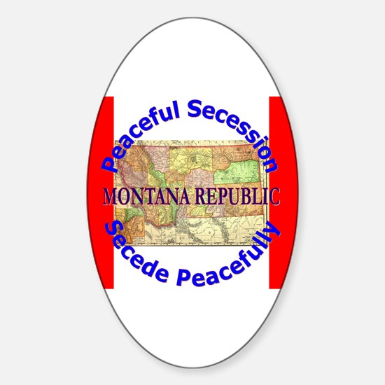 Montana-1 Oval Decal