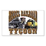 Train Rectangle Sticker - Model RR Tycoon