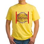Montana-3 Yellow T-Shirt