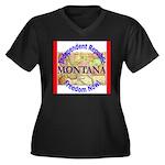 Montana-3 Women's Plus Size V-Neck Dark T-Shirt