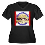Montana-3 Women's Plus Size V-Neck Dark T-Shirt
