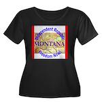 Montana-3 Women's Plus Size Scoop Neck Dark T-Shir