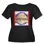 Montana-3 Women's Plus Size Scoop Neck Dark T-Shir