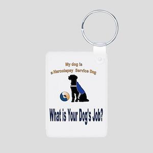 narcolepsy service dog Keychains