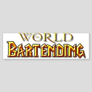 World of Bartending Bumper Sticker