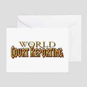 World of Court Reporting Greeting Cards (Pk of 10)
