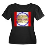 Montana-1 Women's Plus Size Scoop Neck Dark T-Shir