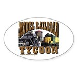 trains -Oval Sticker Model RR Tycoon