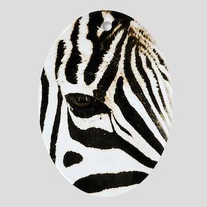 Zebra Oval Ornament