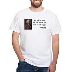Benjamin Franklin 8 White T-Shirt
