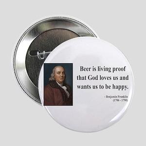 "Benjamin Franklin 8 2.25"" Button"